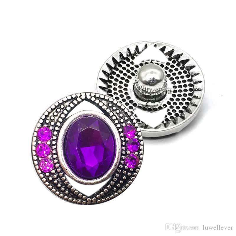 Luwellever 009 flower 3D 18mm 25mm Metal Snap Button For Bracelet Necklace Interchangeable Jewelry Women Accessorie Findings
