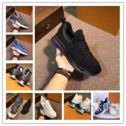 Nouveau nom de concepteur de marque Man Shoes Casual Flat Kanye West Mode ridé en cuir à lacets Baskets montantes Runaway Arena Chaussures am058