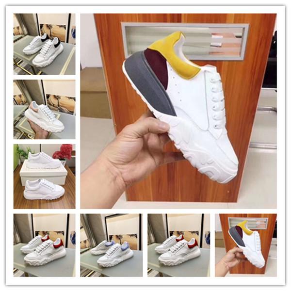 McQueen Hot M Марк Дизайнер Top Производство Лето Нового Взрыв Модель Color Matching Повышения совета обуви Открытого Trainer женщина Спортивной обувь