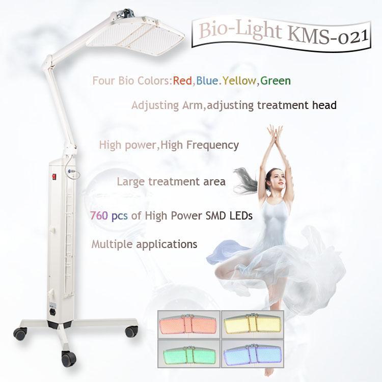 Iluminação LED máquina pdt 4 cores PDT anti-envelhecimento / conduziu a lâmpada terapia de luz para facial