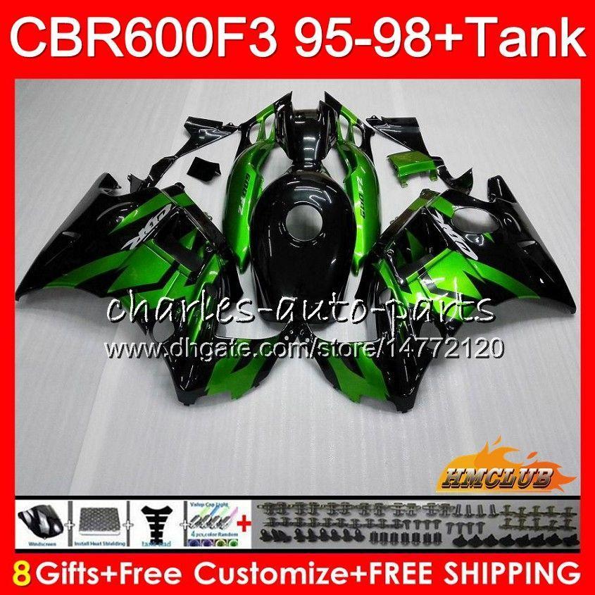 Lichaam + tank voor HONDA CBR 600F3 600CC CBR600 F3 95 96 97 98 Lichtgroen 41HC.28 CBR 600 FS F3 CBR600FS CBR600F3 1995 1996 1997 1998 Kuip