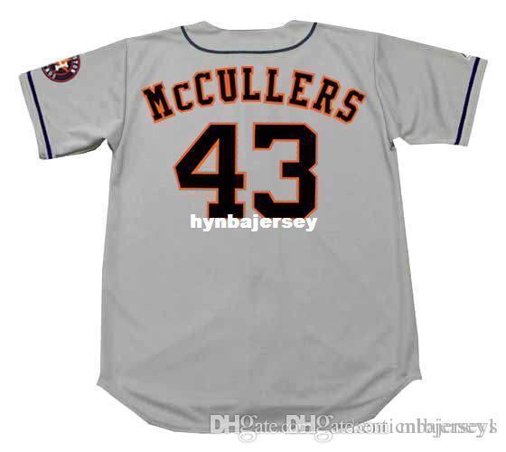 Pas cher sur mesure Lance McCullers Houston Cousu Majestic loin Baseball Jersey Retro Hommes Maillots de course