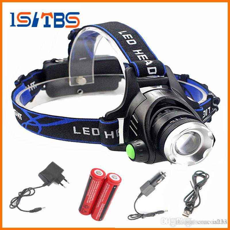 LED Headlight 5000lm T6 led headlamp zoom head flashlight adjustable headlamp Optional accessorie 18650 battery front light