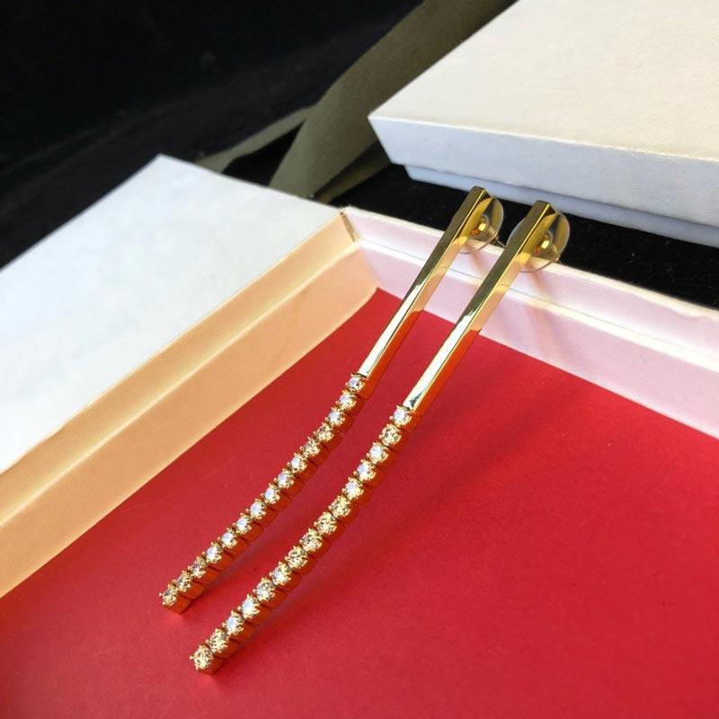 Catena fashion- Orecchini Designer in oro 18 carati placcato in ottone Gioielli Gioielli di lusso perla Orecchini Sfera Per Donne Nuovo marchio di gioielli wo