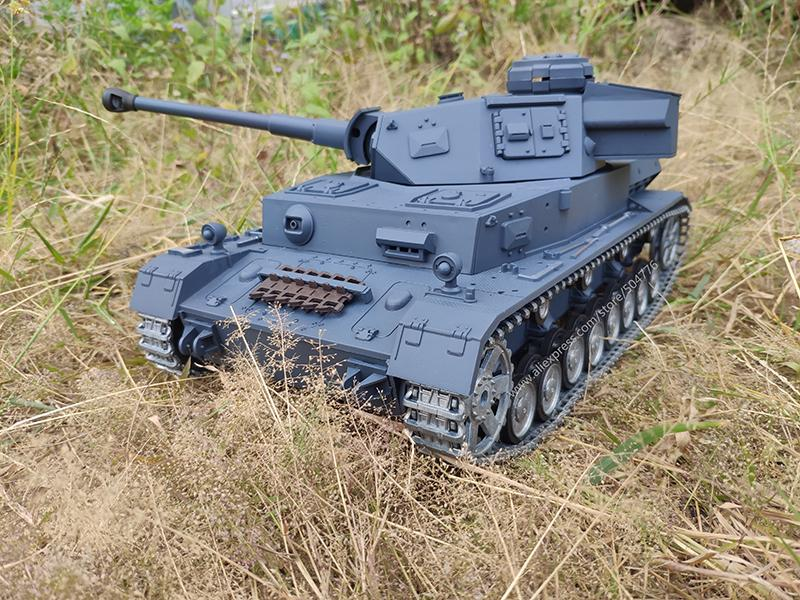 6.0 Edition with Infrared battle system 1:16 RC PZKPFW.IV AUSF.F2.SD.KFZ.161-1 HL 3859-1 Advanced for Metal track metal wheels