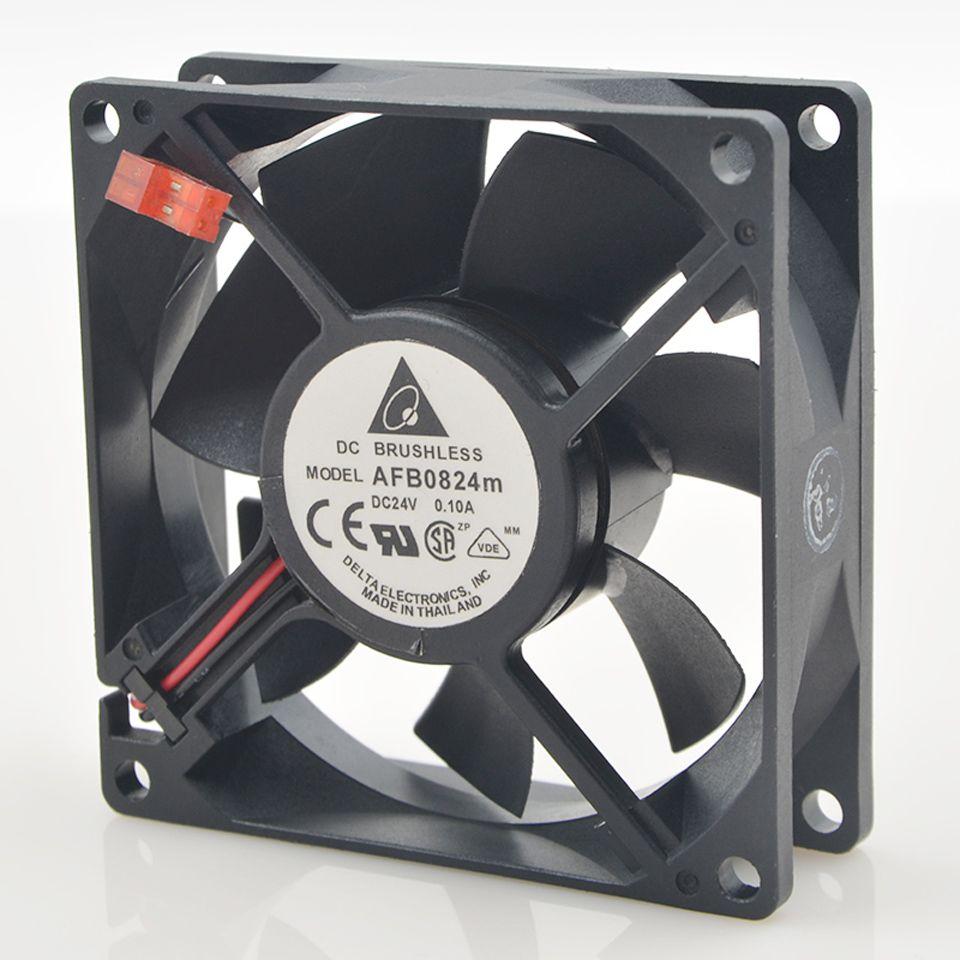 DC24V cooling fan 1pcs AFB0824M 0.10A for delta inverter converter cooling fan 8025 8CM