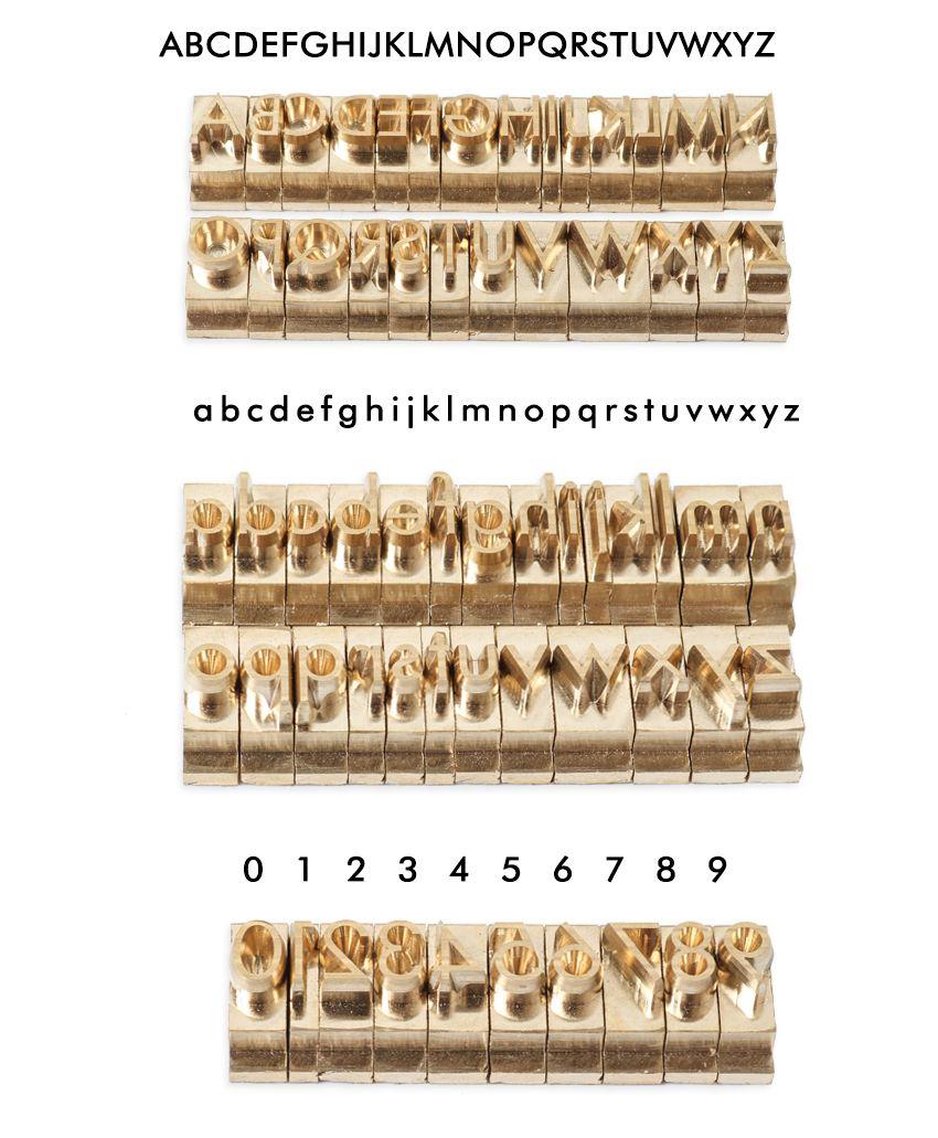Personalizado carimbando o molde Nome da imprensa do calor da máquina Latão Logo personalizado em carteira Sapatos de couro Selo de madeira Papel Foil Hot letras do alfabeto