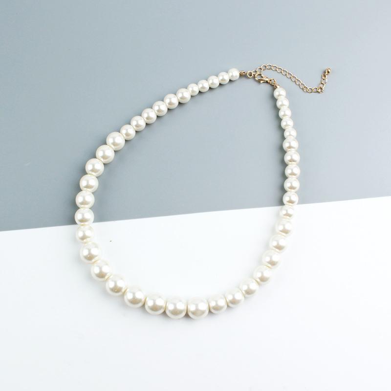Clavicule élégante chaîne Sautoirs Simulé Perle Strand Collier de perles pour femmes de mariée à la main des bijoux féminins de cadeau de mariage