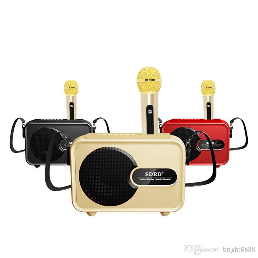 New SD502 wireless microphone Bluetooth audio machine home TV KTV children karaoke OK sing