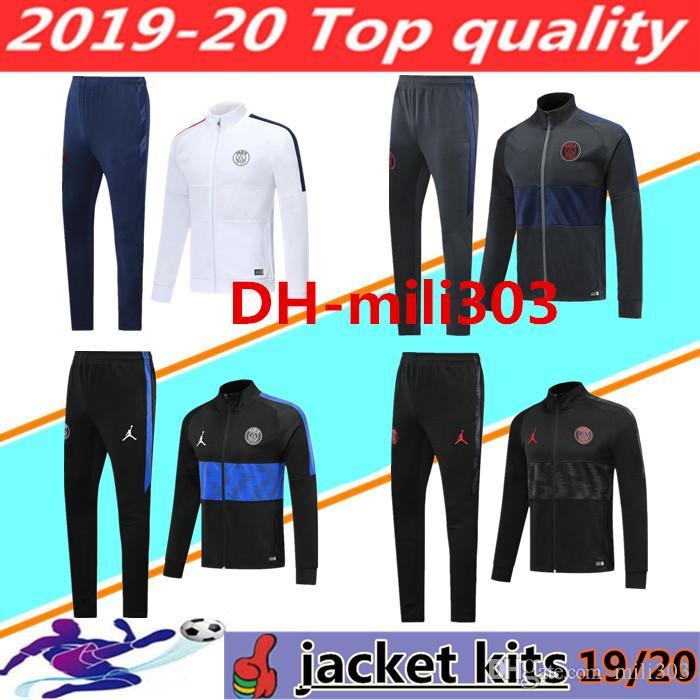 2019 2020 PSG futbol ceket Survêtement 19 20 paris MBAPPE Icardi futbol ceket eşofman hava jordam futbol antrenman takım spor seti