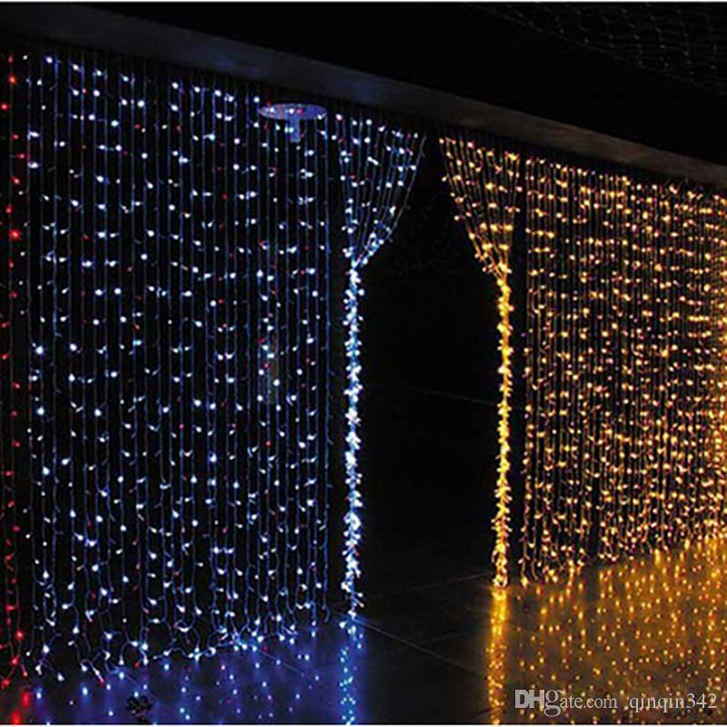 Curtain lights christmas lights 10*8m 10*5m 10*3m 8*4m 6*3m 3*3m led lights Christmas ornament lamp Flash Colored Fairy wedding Decor
