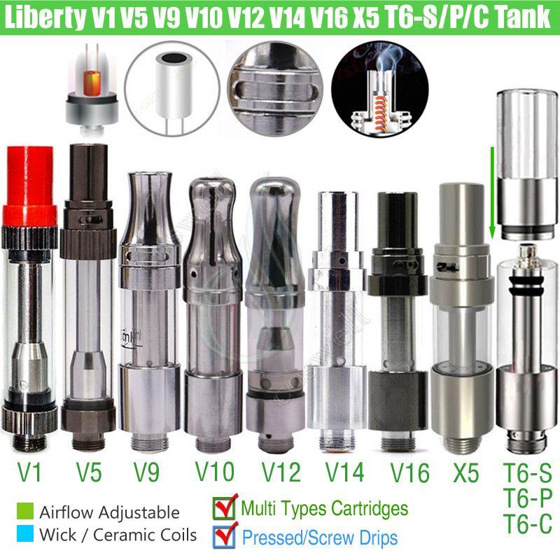 Original Itsuwa Amigo Liberté X5 V1 V5 V7 V9 V10 V12 V14 V16 T6S T6P T6C T6S T6P T6c X6 Thanos TCore Cartouches réservoir 510 Chariots atomiseurs