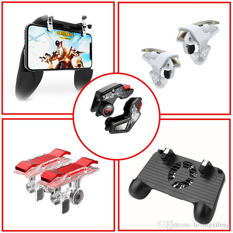 selling S8 D9 SR W10 H5 X7 E9 F1 Pair Mobile Fire Button Aim Key for PUBG Game Rules of Survival Gaming Trigger L1R1 Shooter Controller