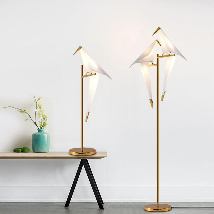Postmodern minimalist kişilik masa lambası oturma odası yatak odası çalışma başucu basit yaratıcı bin kağıt vinç zemin lambası - L124