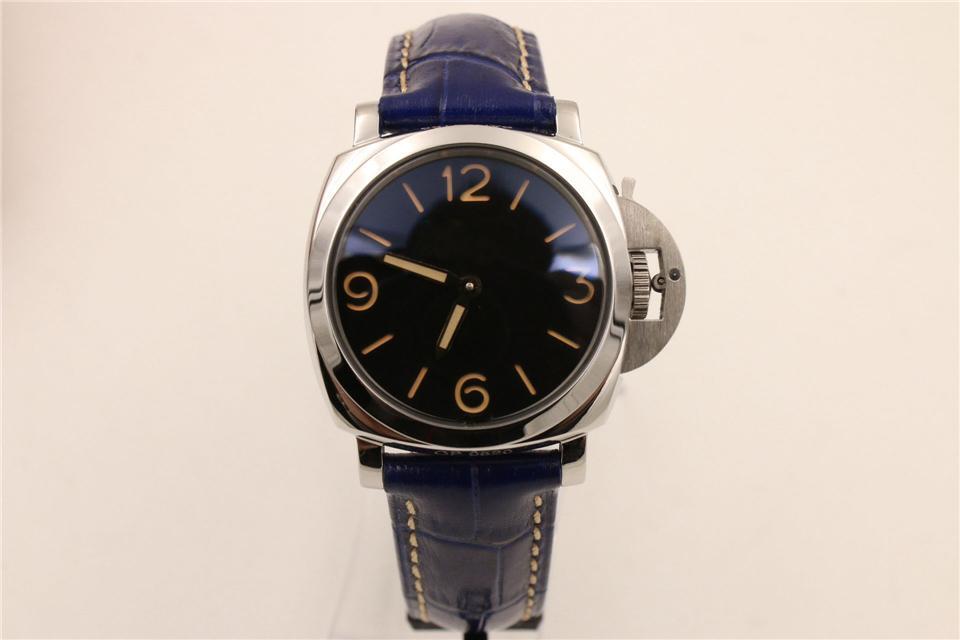 Esportes clássico 34 milímetros pulseira de couro preto Pin Buckle luminescentes Relógios Mão Auto relógios de luxo Automatic Men Mecânica Relógios Mens