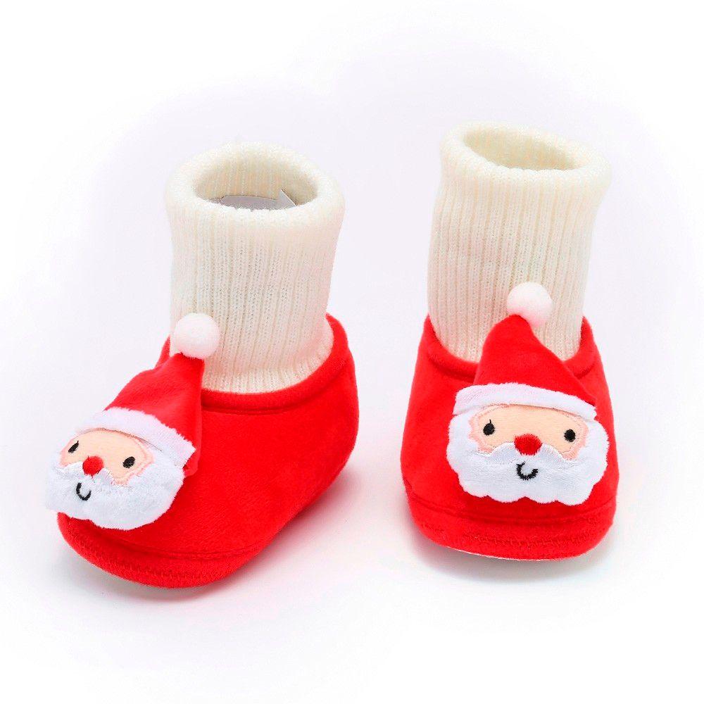 Bebê recém-nascido menina Meninos sapatos quentes macio infantil recém-nascido da criança Sapatas dos desenhos animados do bebé do Sapatinho Primeira Walkers
