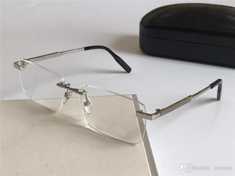 Fahio Eye Glasses Prescrizione 0030 Telaio senza montatura Occhiali ottici Occhiali Clear Lens Simple Business Style for Men