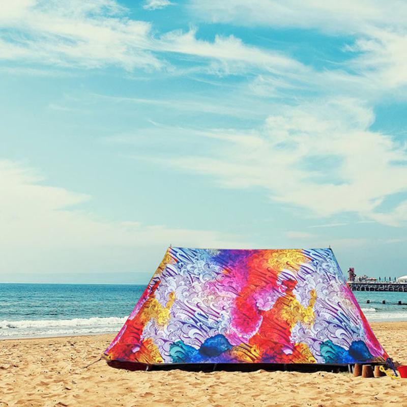 Strand-Stuhl Shelter beweglicher wasserdichtes windundurchlässiges Faltzelt Anti UV Opaque Brown Zelt Gartenmöbel Angeln Shelter