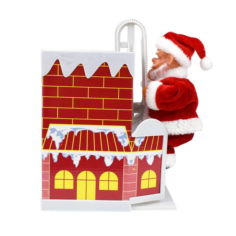 New Arrival Santa Claus Climbing Chimney with Music Electronic Santa Claus Toys Christmas Toys Gifts for Kids
