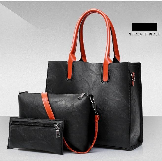 Totes das mulheres sacos europeu e americano design de moda três peça saco senhoras composto saco grande-capacidade senhora bolsa de ombro