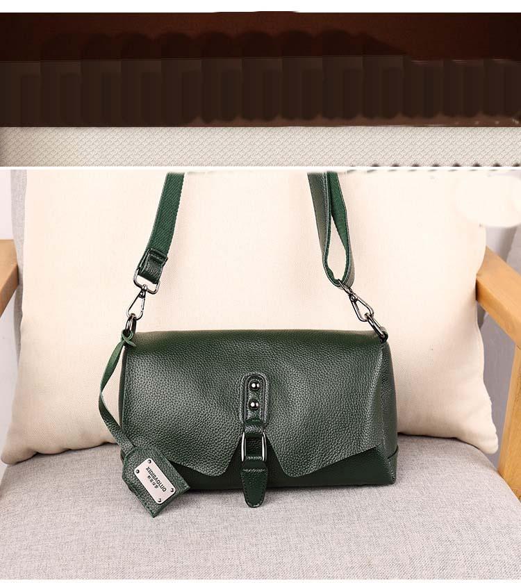 Designer-Pure bolsa de couro 2019 New Shoulder Messenger Bag Couro Feminino Selvagem Textura Primeira Camada Bag portátil