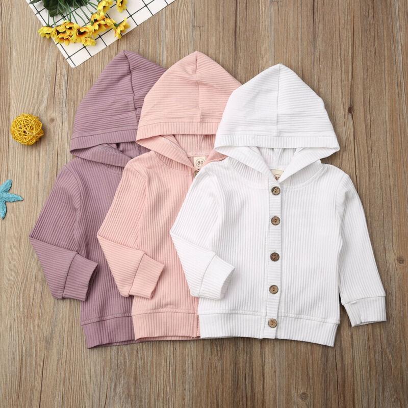 0-24M Sonbahar Bebek Kız Bebek Giyim Uzun Kollu Örme Ceket Ceket Dış Giyim Top 2020
