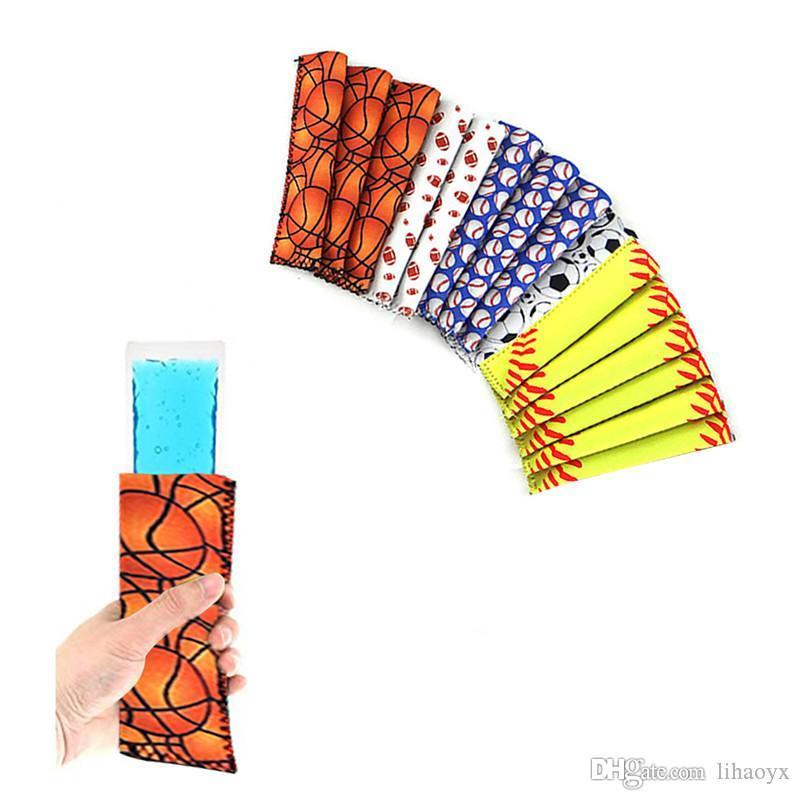 Baseball Eis am Stiel-Halter Pop Sleeves Stieleis-Tasche Sommer-Kind-Ice Sleeves Freezers Eis am Stiel-Halter Sommer dc566