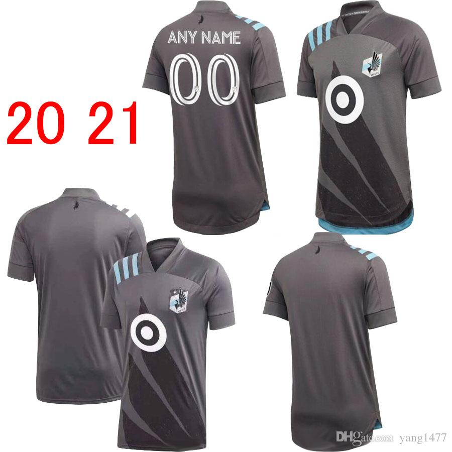 20 21 Minnesota United Futebol ALONSO 2020 DARWIN JR Football Shirt ANGELO Rodriguez Camisa do futebol Gregus ROMARIO Football Jersey
