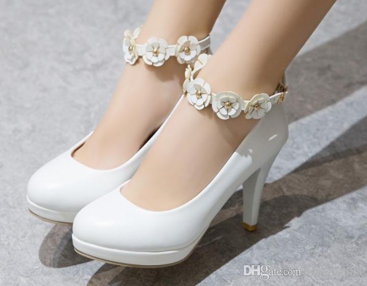 2019 Chaussures femmes au printemps et en automne avec nouveau style talon haut belle table imperméable tête ronde talon fleur @ ASD626