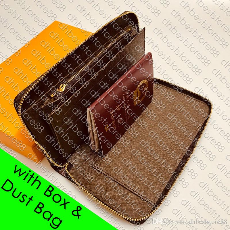 M60002 Зиппи организатор ХL бумажник дизайнер женщин мужские карты держатель портмоне чековая книжка билет на самолет паспорт в кармане ключ организатор чехол НКУ