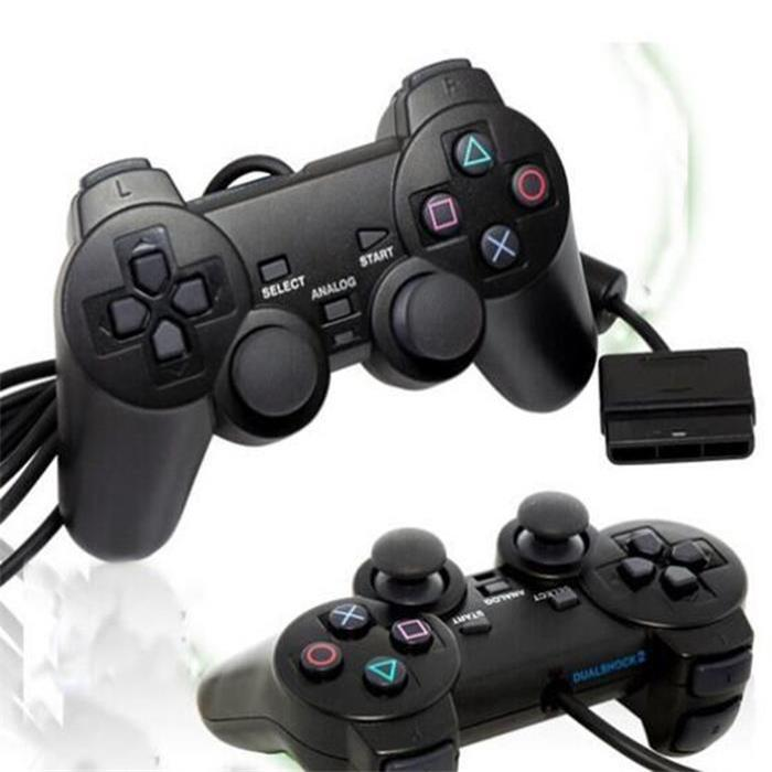 Hot selling Wired Controller For PS2 Double Vibration Joystick Gamepad Game Control For Playstation 2 M-JYPP