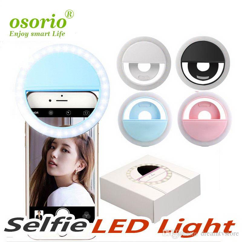 charge de gros beauté flash LED remplissage lampe selfie anneau extérieur selfie lumière rechargeable pour tous les téléphones mobiles