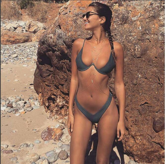 2019 supporto in acciaio modo multicolore Bikini rilievo del reggiseno brasiliano Swimsuit Swimwear Donne bagnante vestito vestito di nuoto biquini