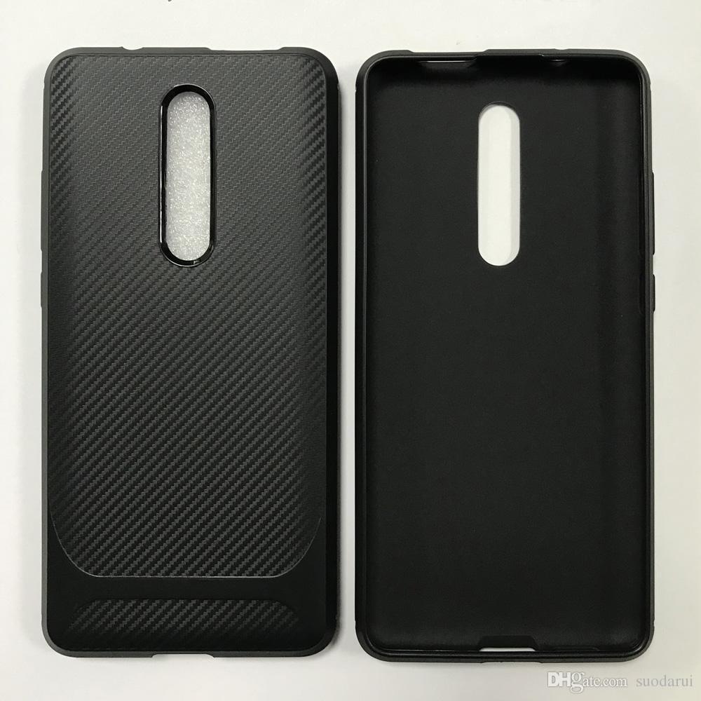 Custodia in TPU morbida di vendita calda per Xiaomi Redmi K20 K20pro Nuovo retro Cover in fibra di carbonio Nero Disponibile