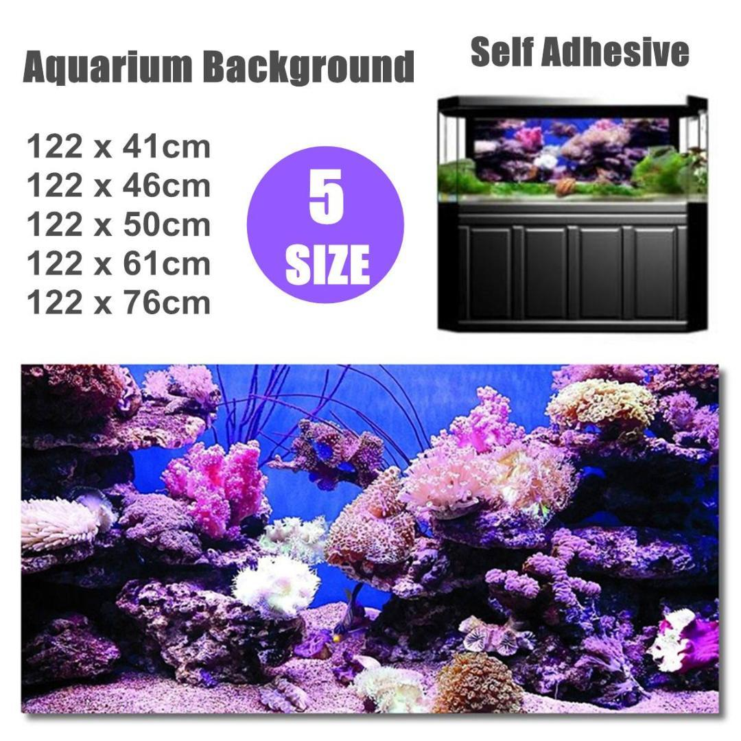 2020 4 Size Pvc High Glossy Aquarium Background Poster Coralal Fish Tank Ocean Decorative Wall Backdrop Image Decoration Landscape From Shutie 30 72 Dhgate Com