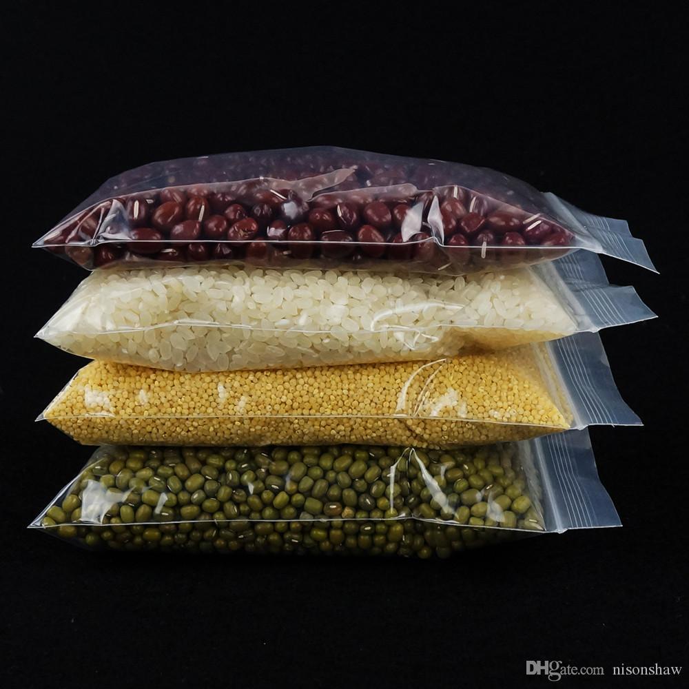 Spedizione gratuita piccolo più spessa gioielli poli bag-4 * 6 cm, 500 pz / lotto PE sacchetto a chiusura lampo, sigillo riapertura cerniera presa moneta / sacchetto di imballaggio per unghie