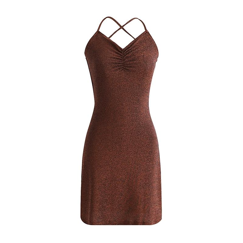 Kadınlar Seksi BODYCON V boyun Backless elbise Çapraz Camiş Paketi Kalça Moda Kulübü aşınma Parti Elbise