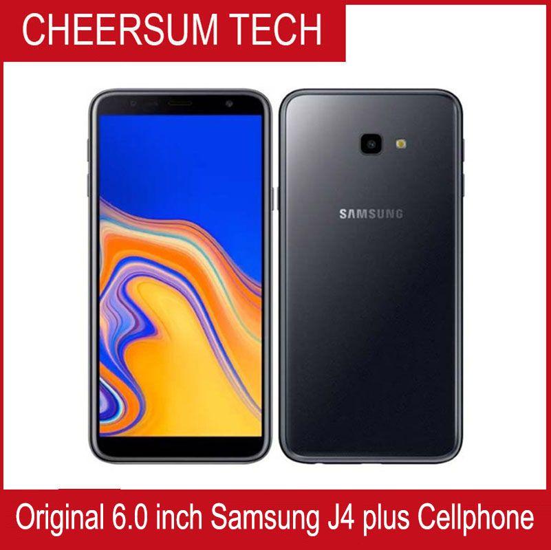 """الأصلي سامسونج غالاكسي J4 + J415F-DS J4 PLUS 4G LTE الهاتف 6.0 """"2GB RAM 32GB ROM رباعية النواة 3300mAh المزدوج سيم الهاتف الذكي"""