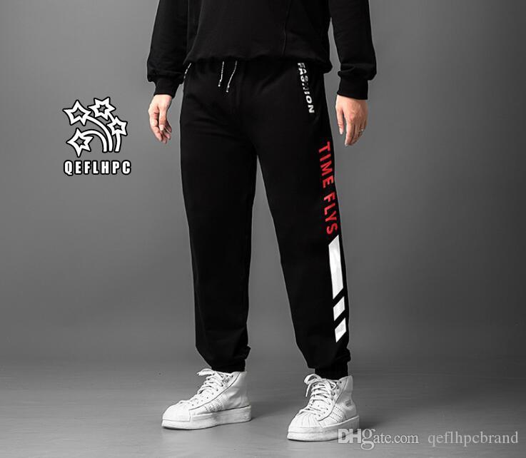Досуг спорт мужские брюки очень большой размер удобрения высокая талия и длинные брюки маленькие ноги гвардии брюки эластичная сила Мужские брюки M70608