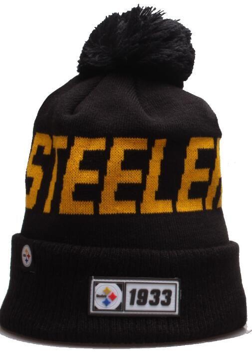 Toptan Yeni Çizgili Pittsburgh kasketleri PIT Tasarım Sideline Ev Resmi Sport Bere Yün Bonnet Sıcak Hip Hop Örme Kafatası 00 Caps