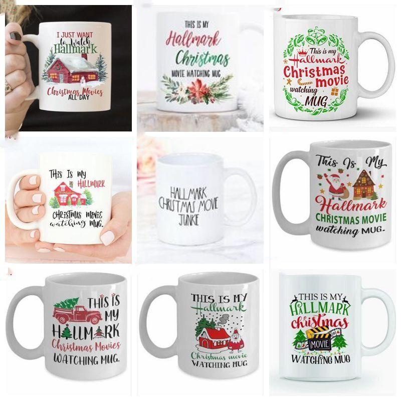 أفلام زجاجة الإفطار كوب حليب كوب السيراميك القدح الأصدقاء عيد الميلاد أكواب القهوة السفر في الهواء الطلق القهوة البيرة المياه رسالة مطبوعة CZYQ6748