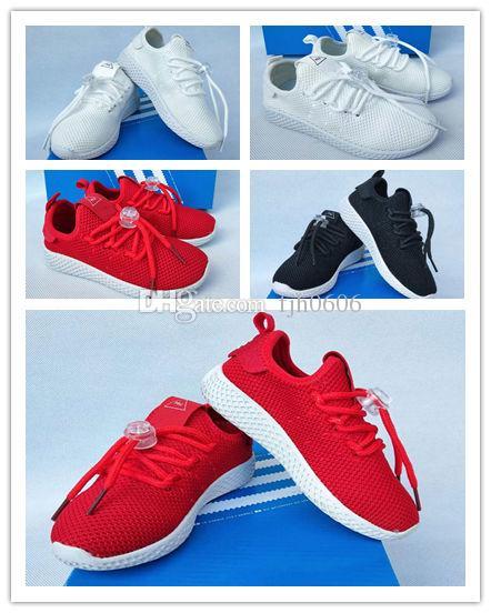 2019 Tennis Hu Kids Running Shoes Pharrell Williams X Stan Smith Children Runner Sports Shoe White Green Trainers Designer Sneakers Running Shoes For