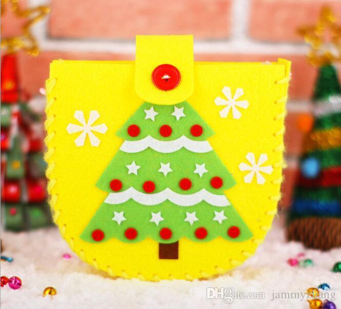 500pcs Wholesale Christmas Kid Candy Bag DIY Hand Workshops Kindergarten And Art Classes Children Hands-on Christmas Bazaar