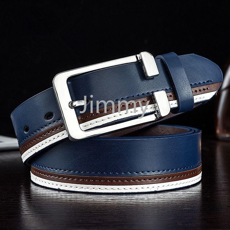 Uomini cinturino in vera pelle di mucca casual patchwork uomo cinture designer Luxury Fashion Belt tendenze pantaloni jeans pantaloni