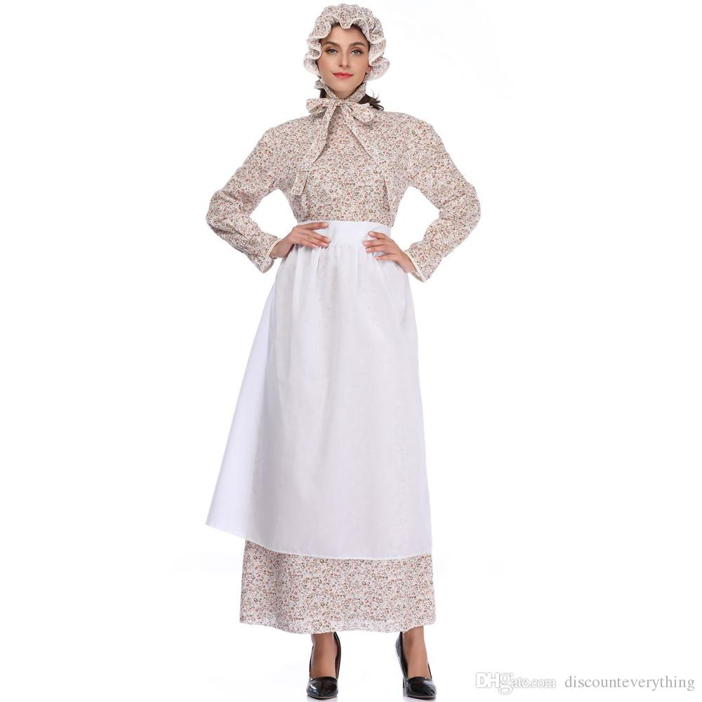 großhandel erwachsene frauen maid cosplay kostüm oma wolf phantasie europa  traditionelle halloween lange kleider elegante weibliche karneval outfit