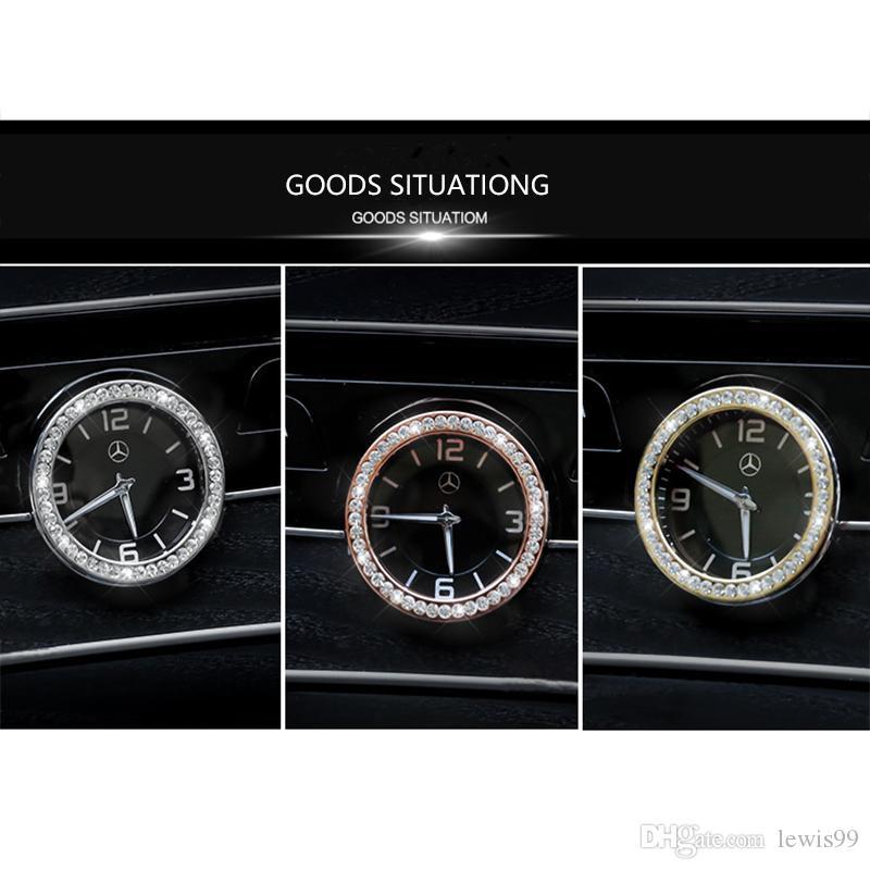 중앙 제어 시계 시계 라인 석 링 커버 트림은 메르세데스 벤츠 C E S 클래스 GLC W205 W213 W222 X253의 경우 자동차 스타일링
