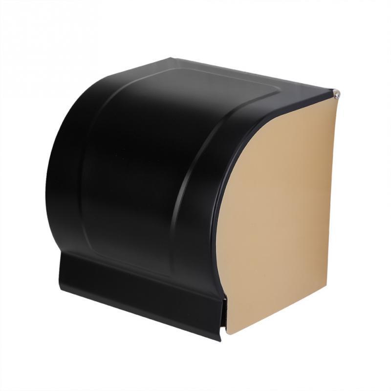 공간 알루미늄 화장실 롤 용지 홀더 벽 마운트 조직 상자 욕실 액세서리 방진 화장지 홀더 케이스