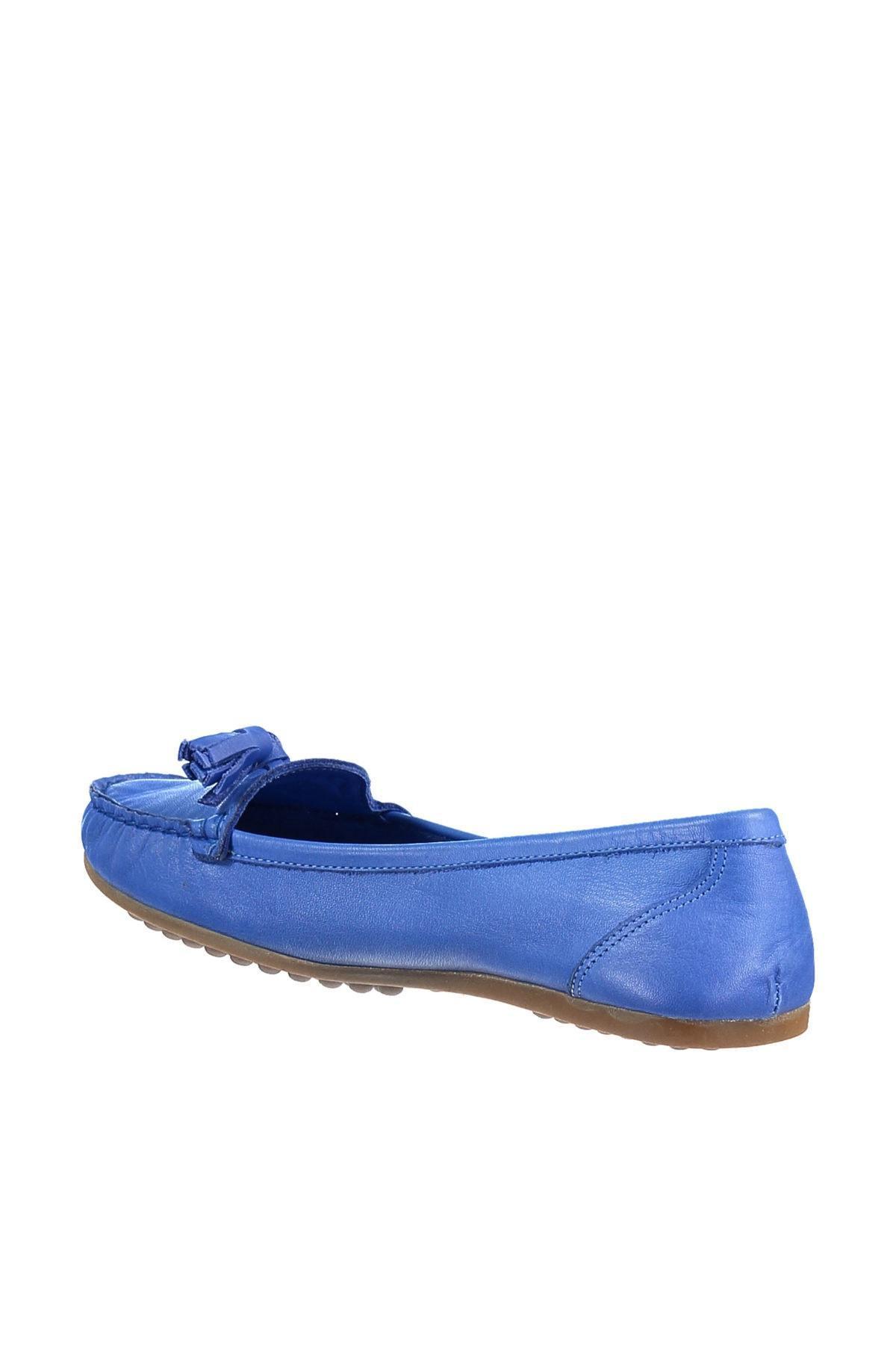 Perle en cuir véritable bleu foncé Femmes Chaussures S 120117996420