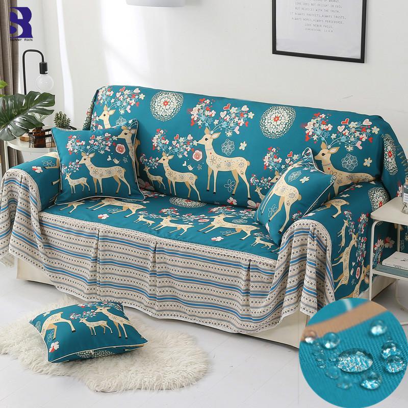 Compre Sunnyrain Uma Peça Uv Tampa Do Sofá Seccional Sofá Cobre Slipcover Couch Tampa Espreguiçadeira Tabela Pano De Sheiler 175 58 Pt Dhgate Com