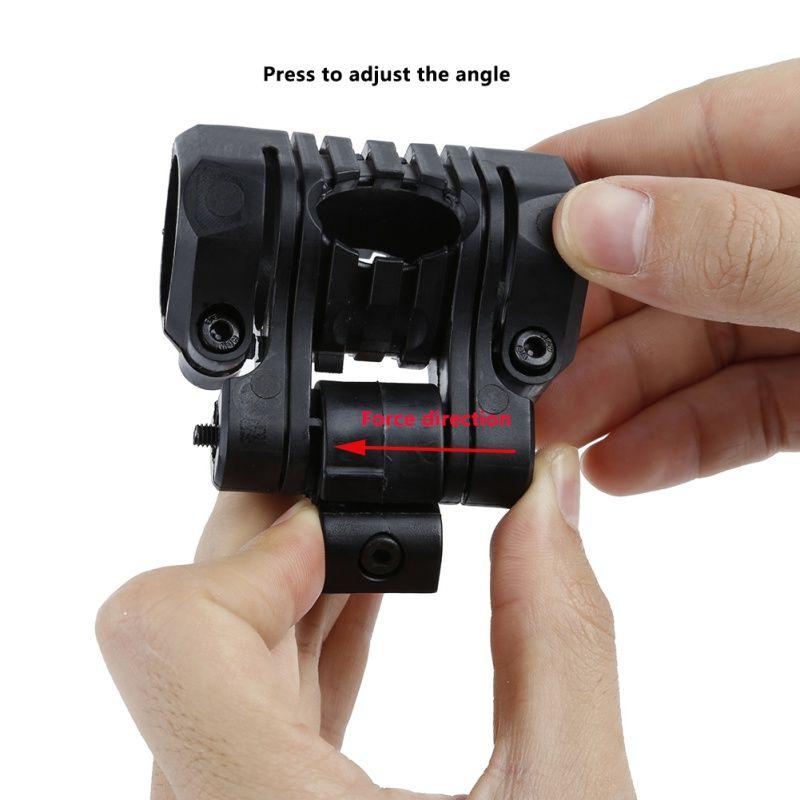 Caça tático Luz Monte 1inch / 25mm 5 Posição Para Airsoft Lanterna Laser Picatinny 20 milímetros Rail Mount